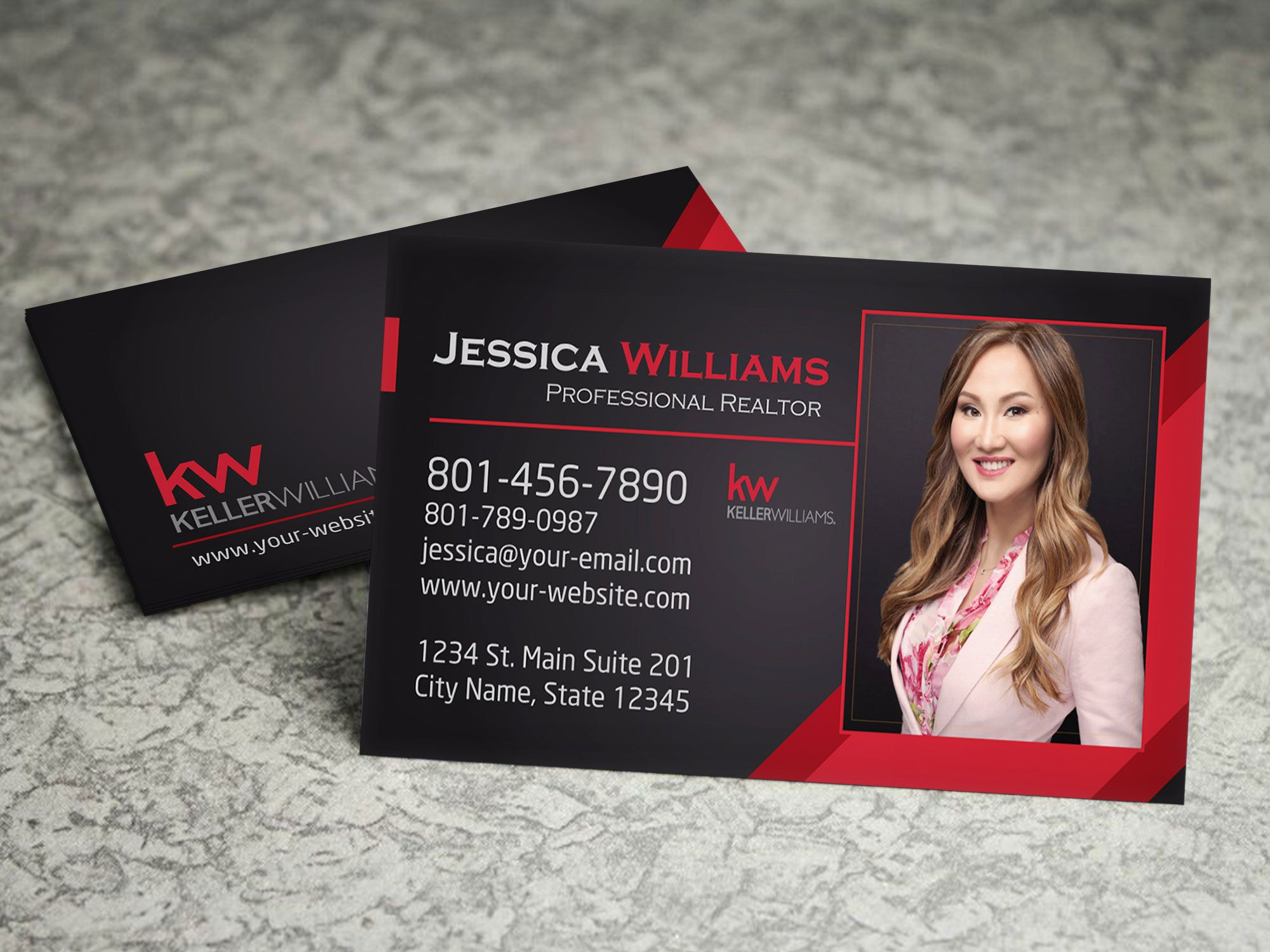Keller Williams Real Estate Business Card Real Estate Etsy In 2021 Keller Williams Business Cards Marketing Business Card Real Estate Business Cards