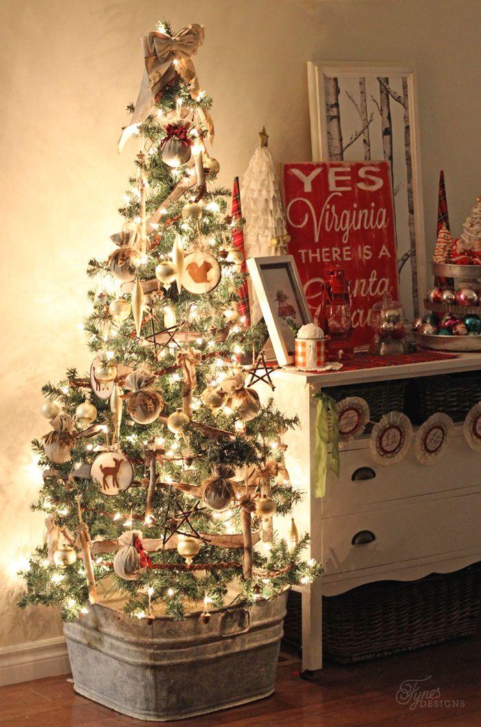 Christmas Home Tour 2014 Fynes Designs Vintage Christmas Tree Decorations Christmas Decorations Country Christmas