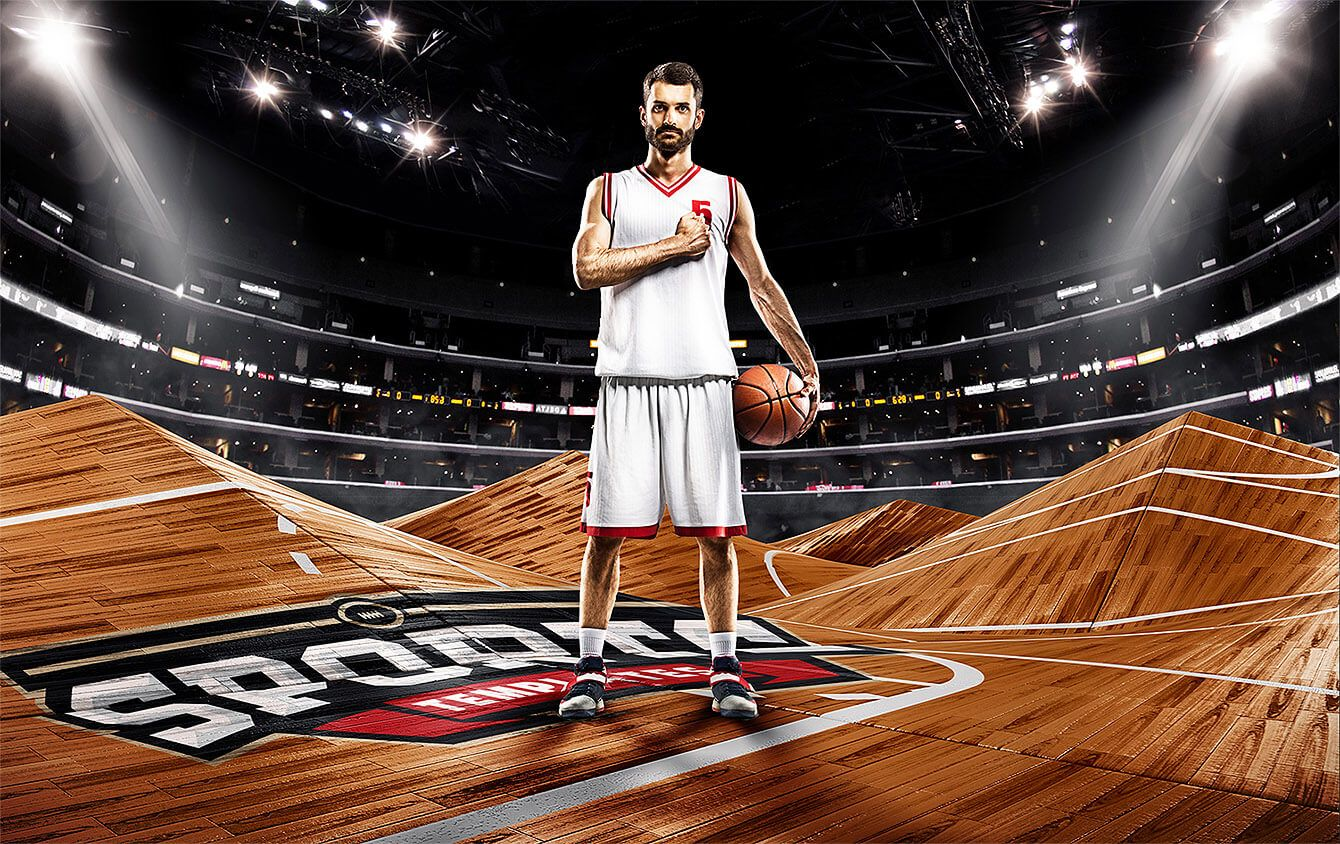 Abstract Fields Editable Backdrops Sports Mockups Psd Basketball