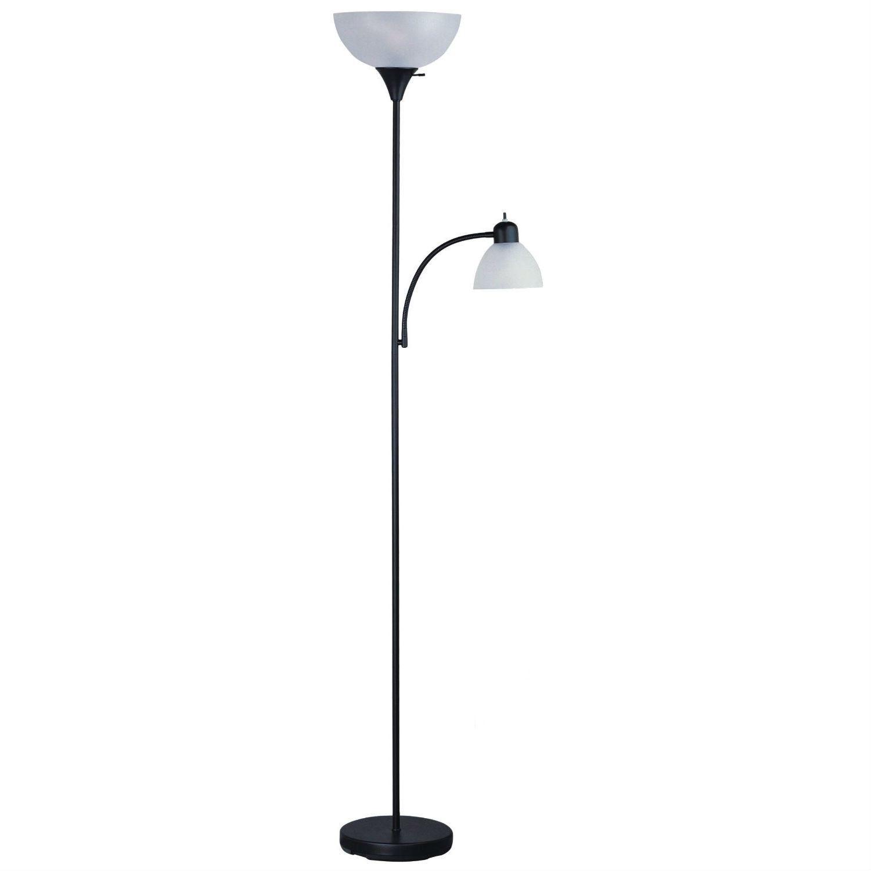 72 Inch Tall Black Floor Lamp With Adjustable Reading Side Lamp Tall Black Floor Lamp Floor Lamp Black Floor Lamp