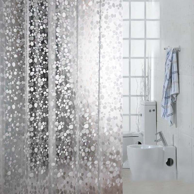 Eforgift Eco Friendly 12 Gauge EVA Shower Curtains Mildew Resistant Waterproof Bathroom Curtain Liner Stone Clear Inch By 78