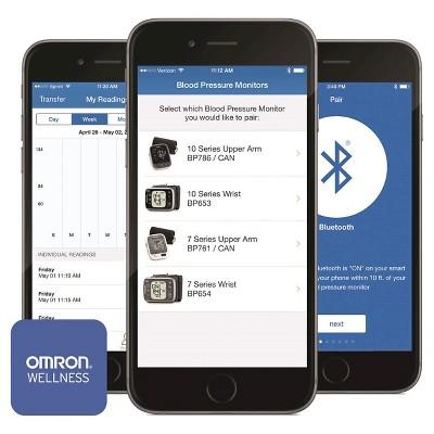 Omron 7 Series Wrist Bluetooth Blood Pressure Monitor
