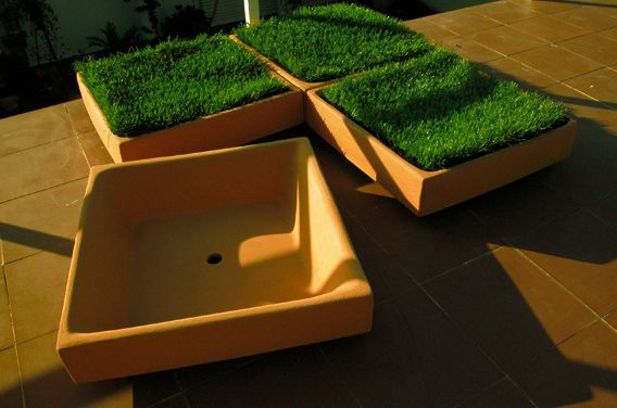 Grass Tiles by Causas Externas , via Behance