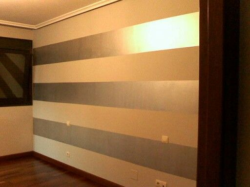 Rayas horizontales en metalizado decoracion rayas - Rayas horizontales ...