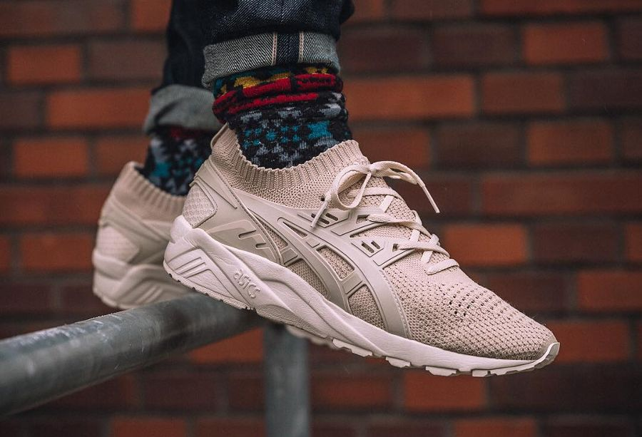 asics gel kayano knit beige