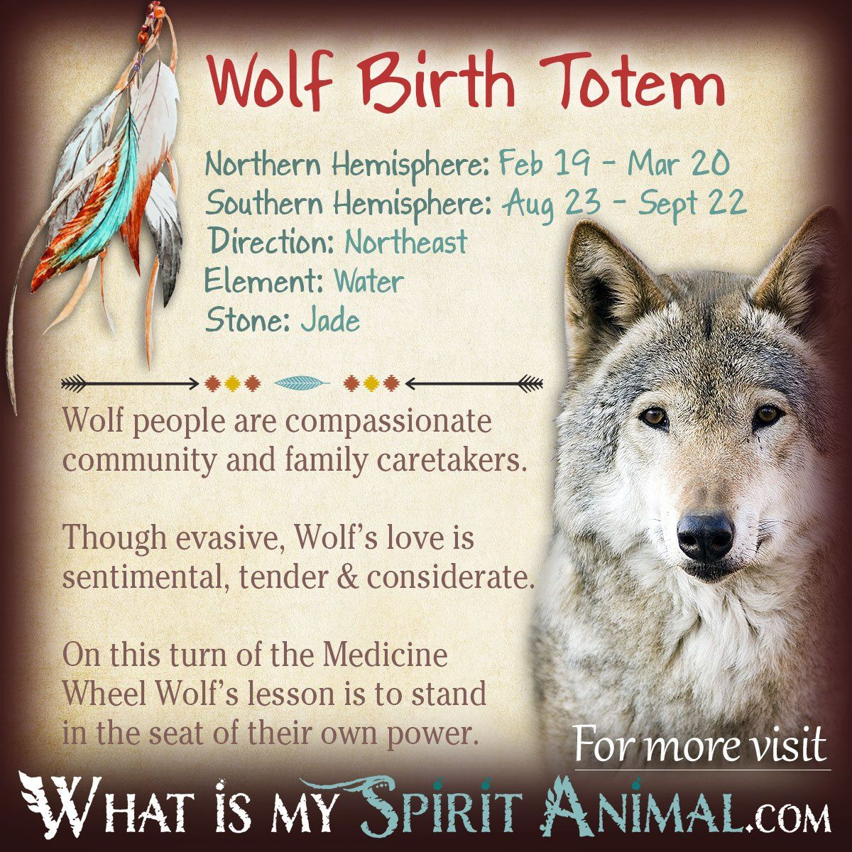 Wolf Totem Native american zodiac signs, Wolf totem