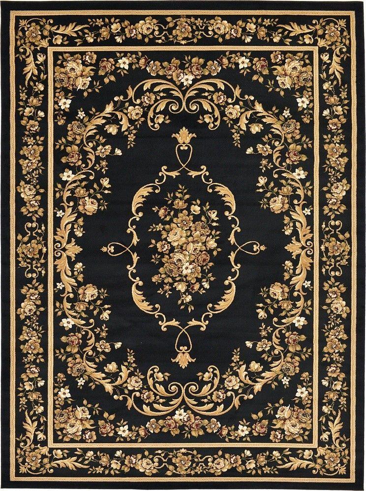 Versailles Black Area Rug