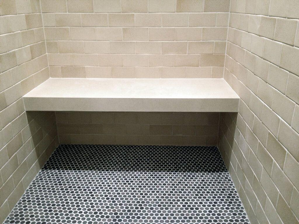 White Concrete Shower Bench Concrete Shower Shower Bench