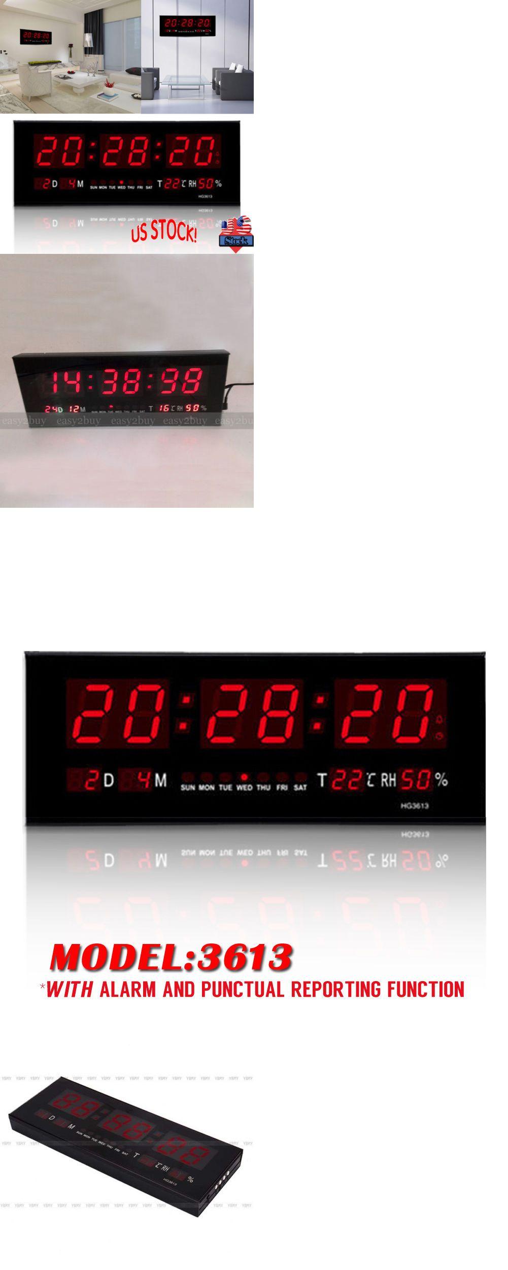 Alarm Clocks And Clock Radios 79643 Large Digital Jumbo Led Wall