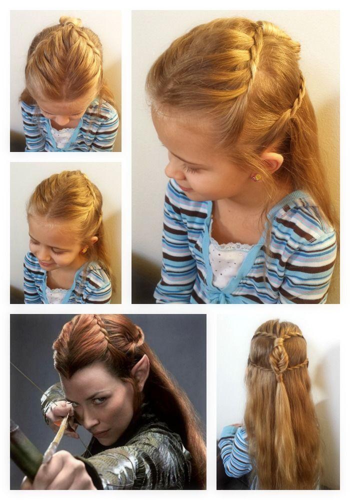 Elf Hair Tauriel We Love This Beautiful Look That Tauriel Wears In The Hobbit Movie We Have Seen It Going Around On P Elf Hair Hair Stules Pretty Hairstyles