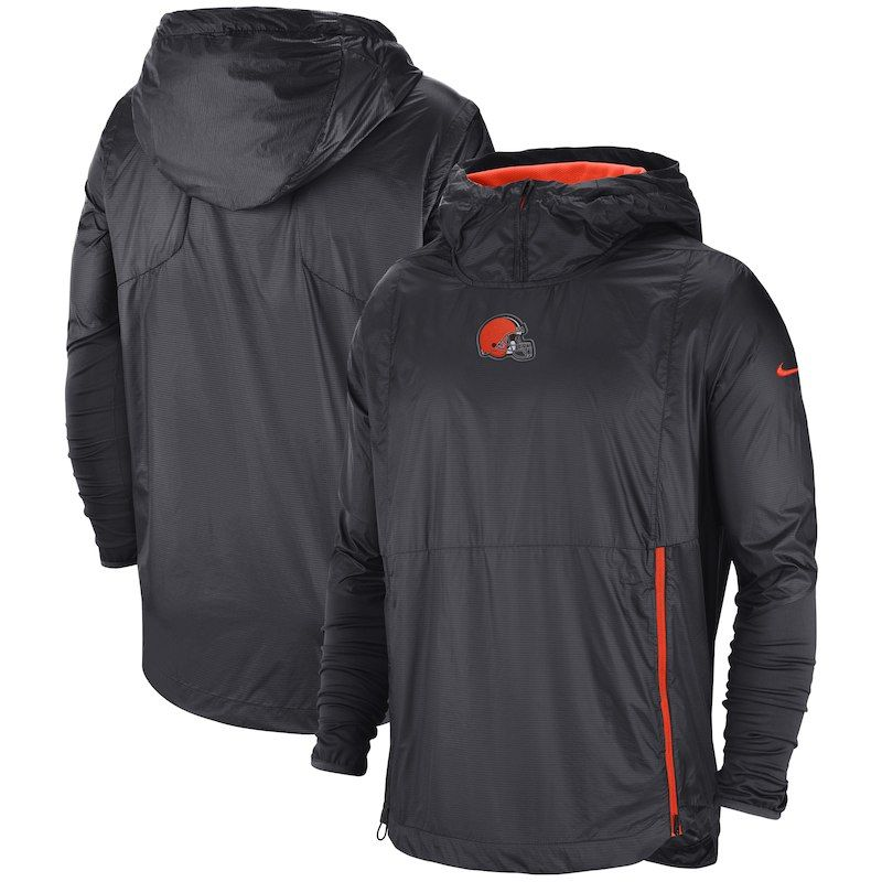 641c8b3c8 Cleveland Browns Nike Sideline Alpha Fly Rush Pullover Jacket – Charcoal