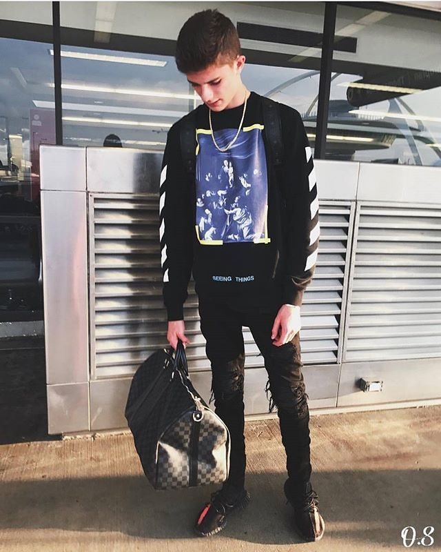 Instagram Media By Outfitsociety Who S Your Favourite Youtuber Blakelinder Outfitsociety Louis Vuitton Bag Off White Sweatshirt Amiri Jeans And Adidas
