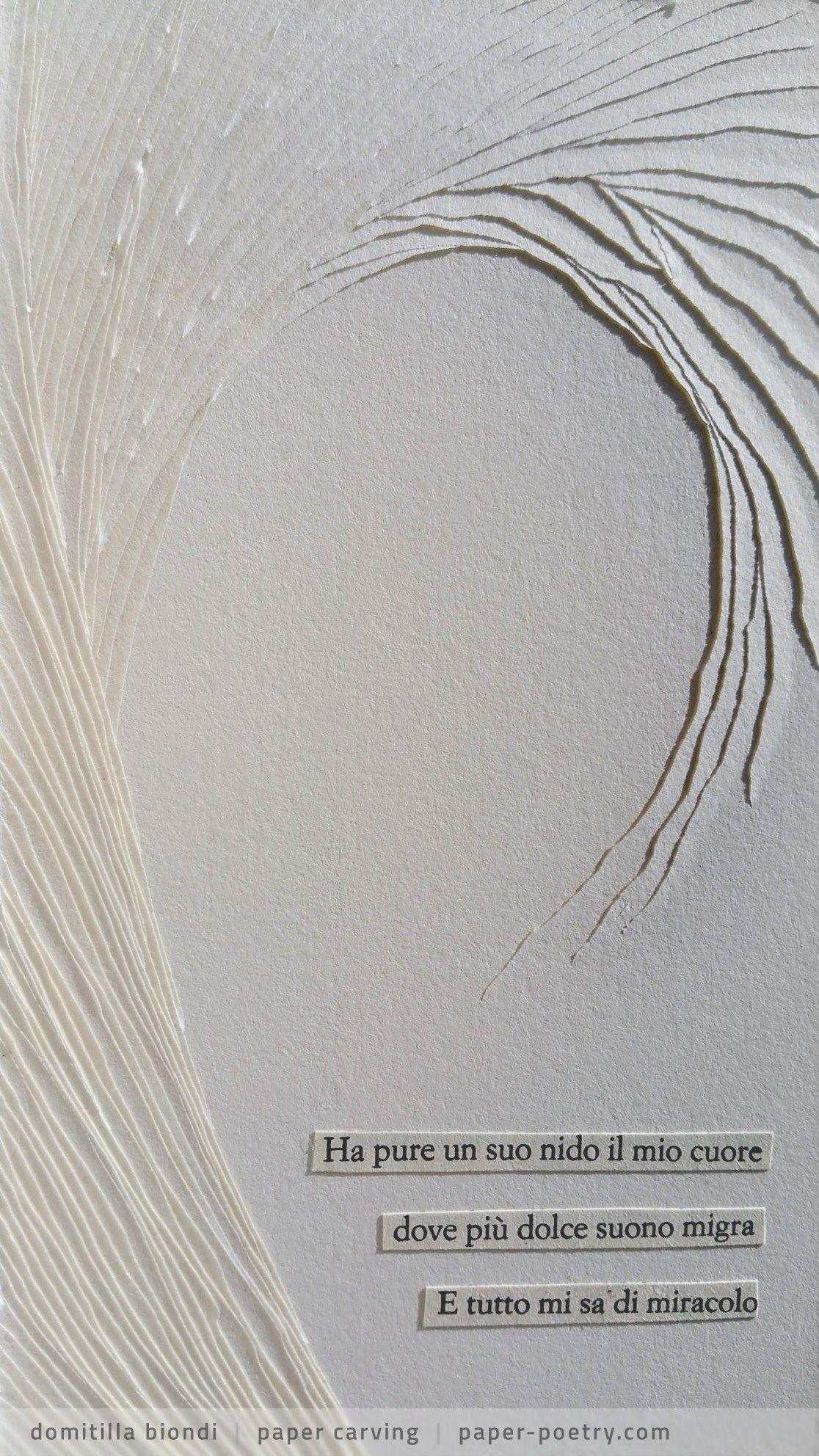 Quasimodo Remixed #8 - paper poetry by Domitilla Biondi