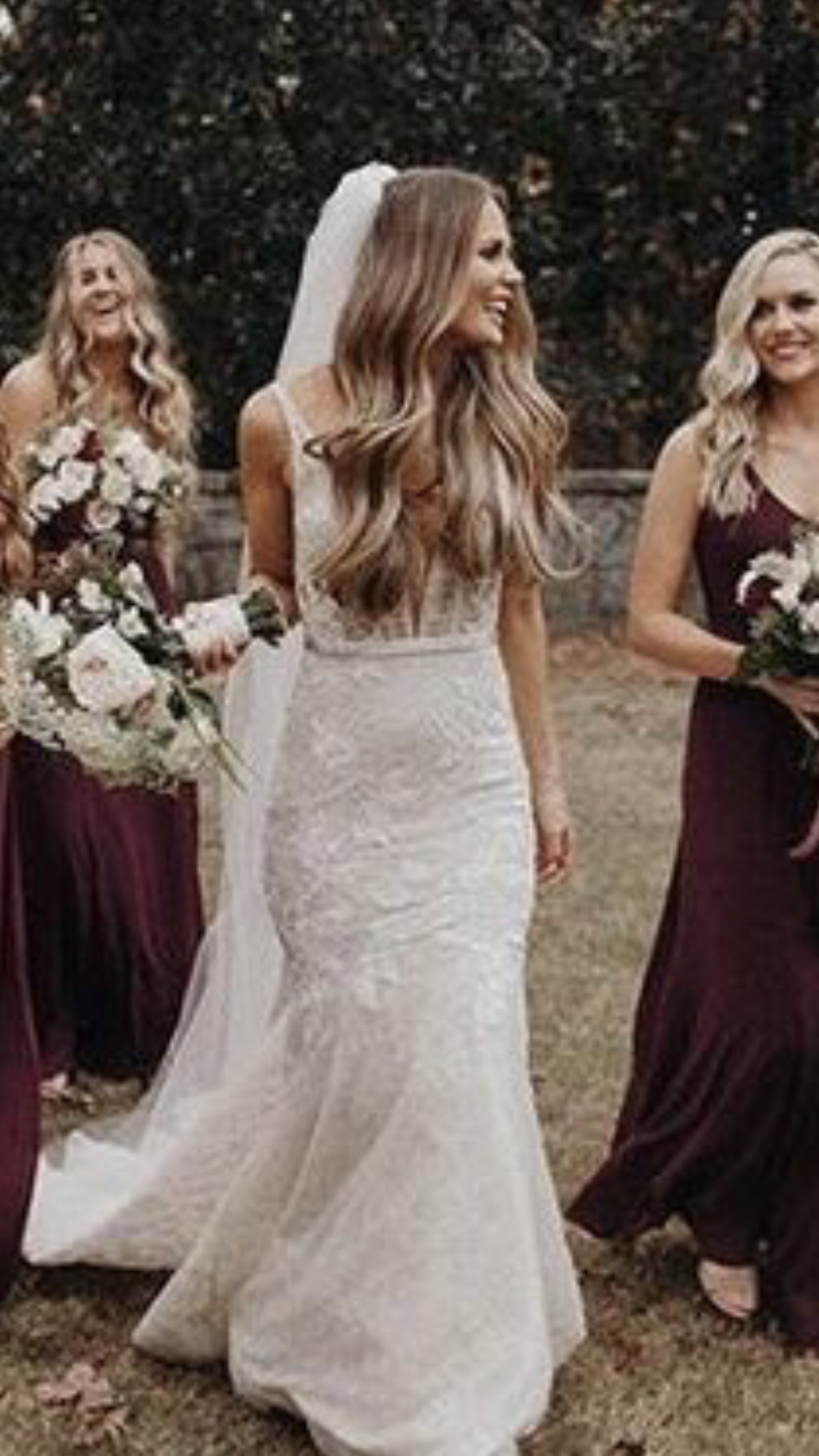 hair down, long veil | wedding in 2019 | long hair wedding