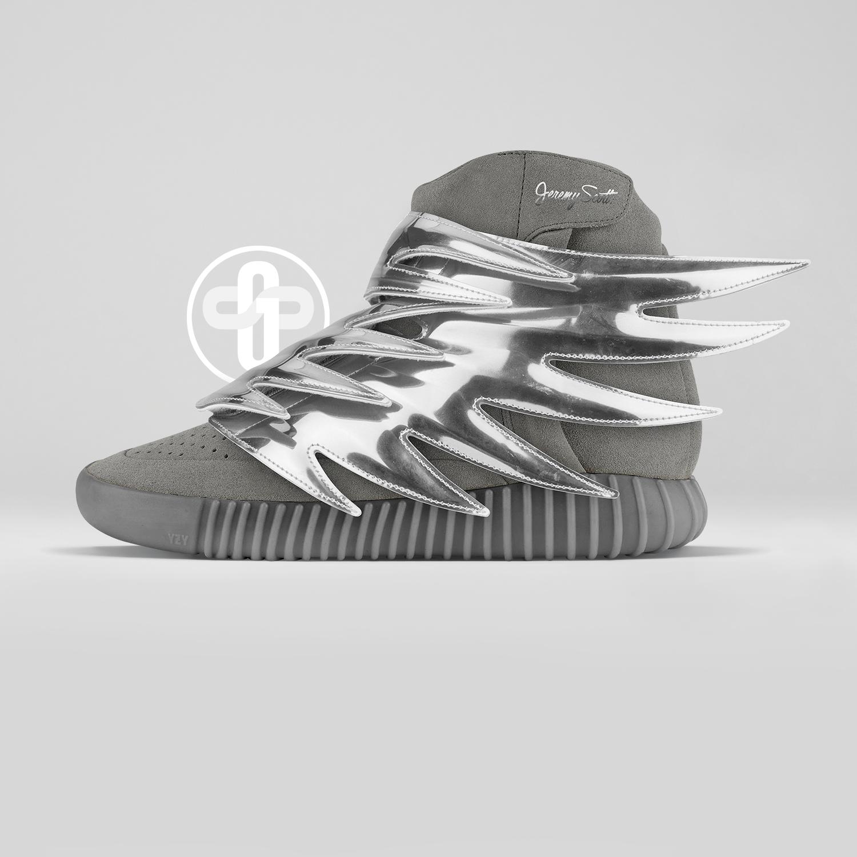 Jeremy Scott x Adidas Yeezy Boost 750 Silver Wings