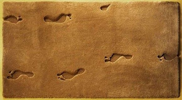 Weird Rugs rug option: sand footprints | designerskie projekty dywanów