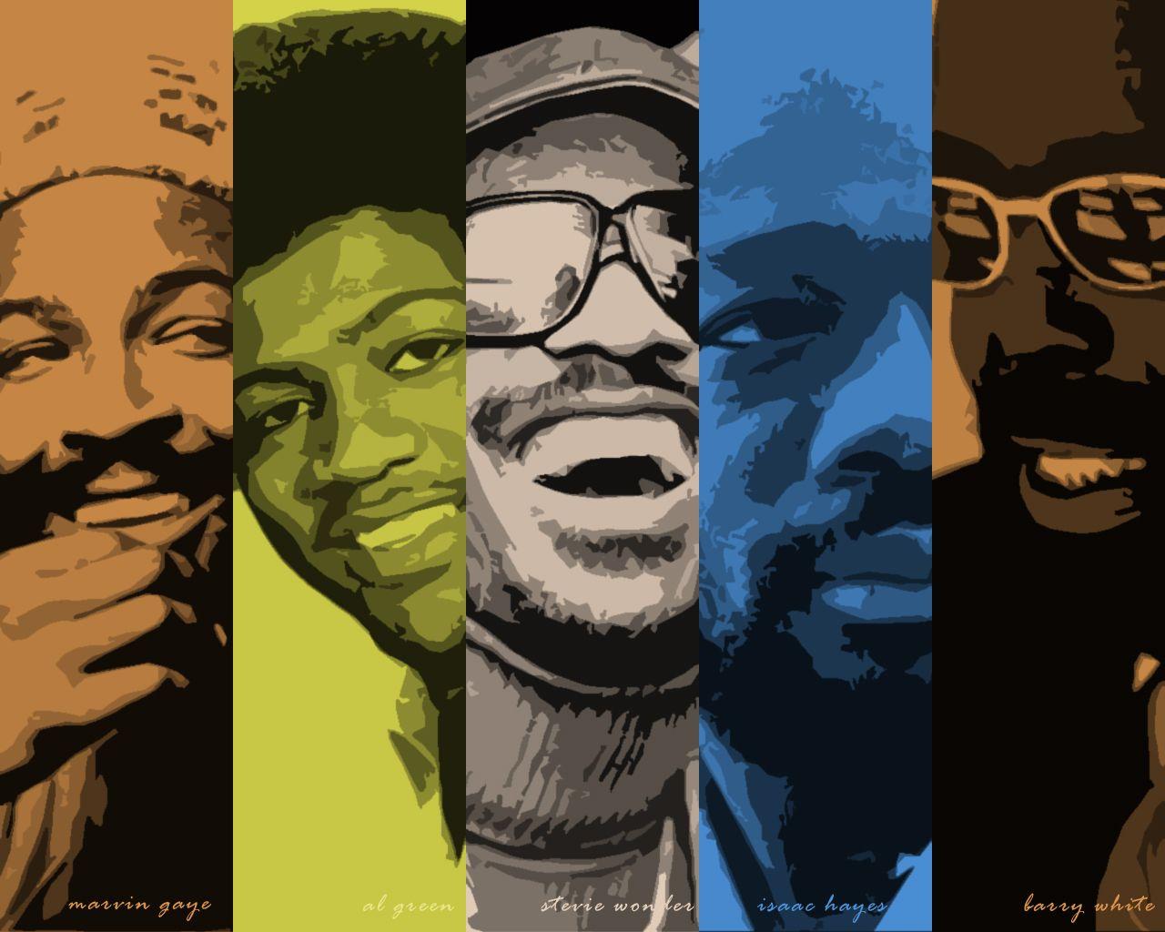 Marvin Gaye Al Green Stevie Wonder Isaac Hayes Barry White Soul Music Al Green Marvin Gaye