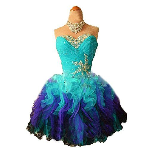 CoCoGirls Strapless Short Formal Homecoming Prom Party Dr…