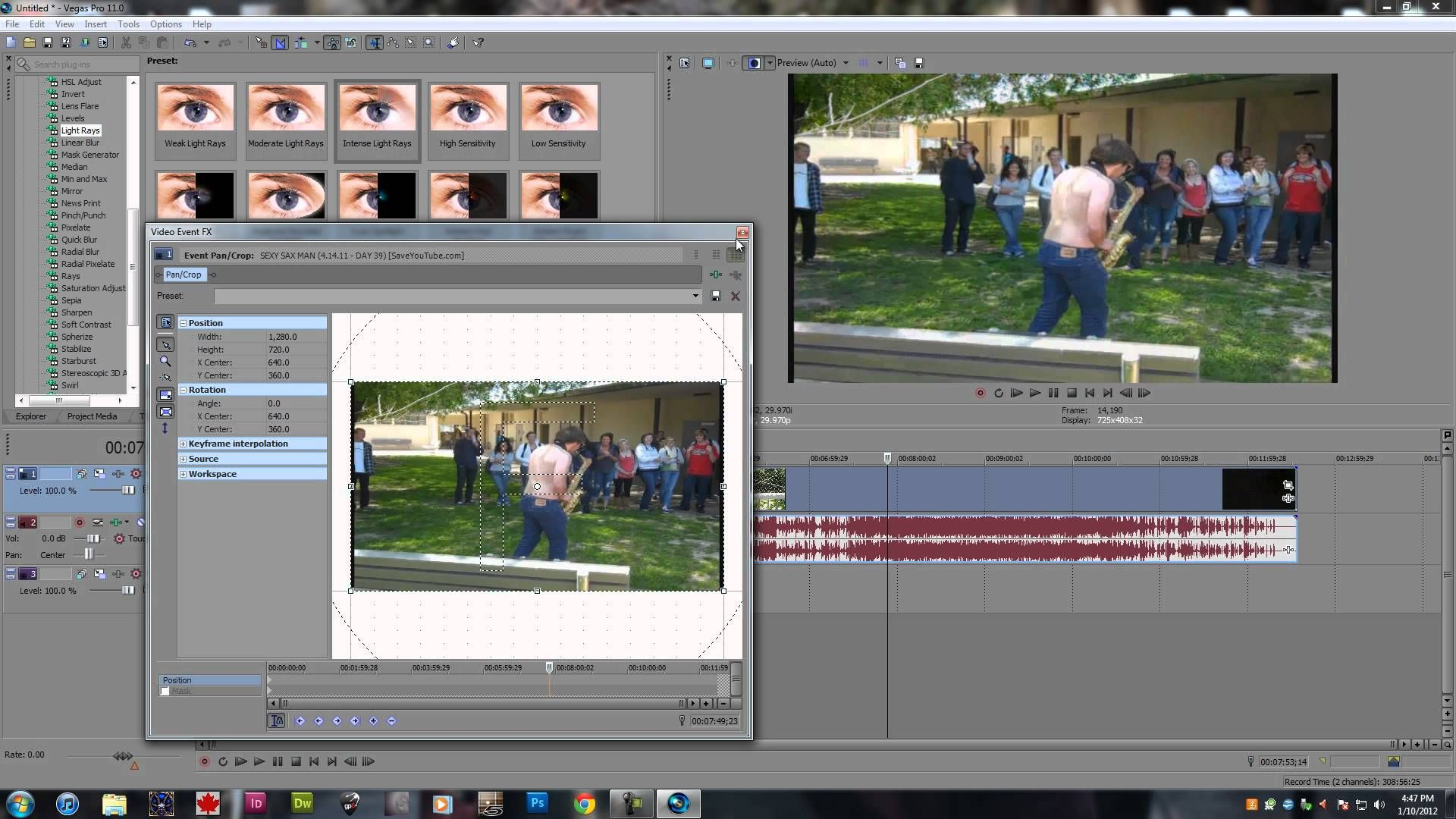 Video effects in sony vegas 11 all effects 1080p hd tutorial sony vegas tutorials for Sony vegas effects download