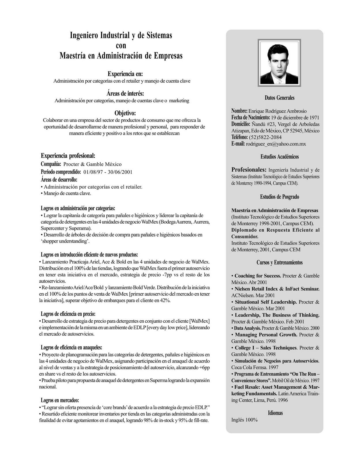 Curriculum Vitae Espanol Ejemplo Lilzeu Tattoo De | Occupations Unit ...