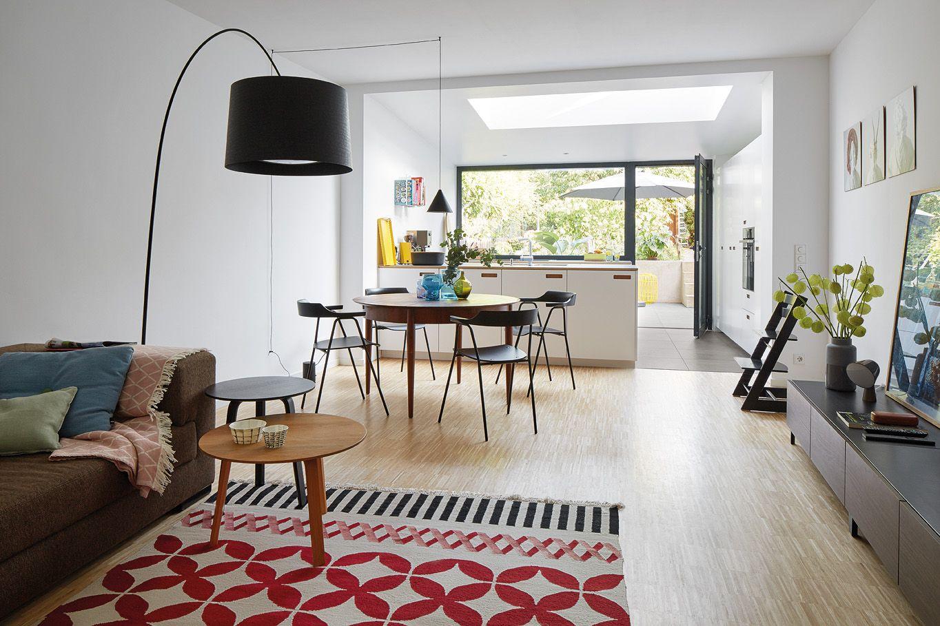 Privathaus Bonn, Wohnzimmer, Fliesen, Agrob Buchtal, Küche