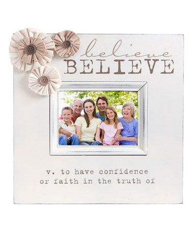 This 'Believe' Floral Frame is perfect! #zulilyfinds