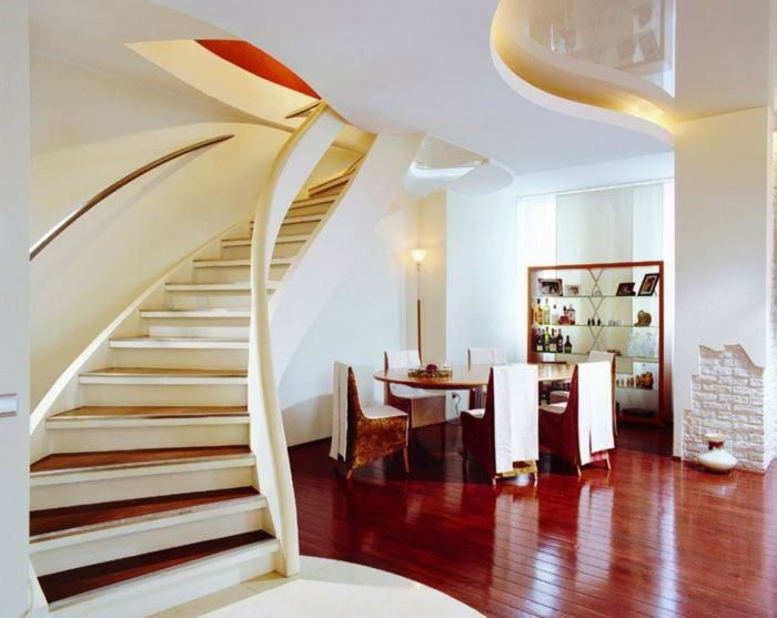 Esszimmer Möbel Unter Die Treppen Hohe Lampe, Led Beleuchtung