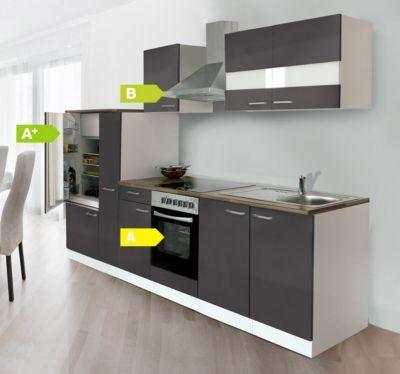 Respekta Küchenzeile KB300WGC 300 cm Weiß Grau Jetzt