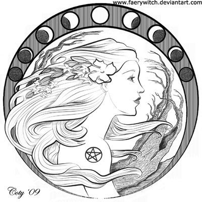 Wiccan Coloring Pages Cruzines The Thoughts And Art Of Tori Beveridge Moon Tattoo Celestial Tattoo Art