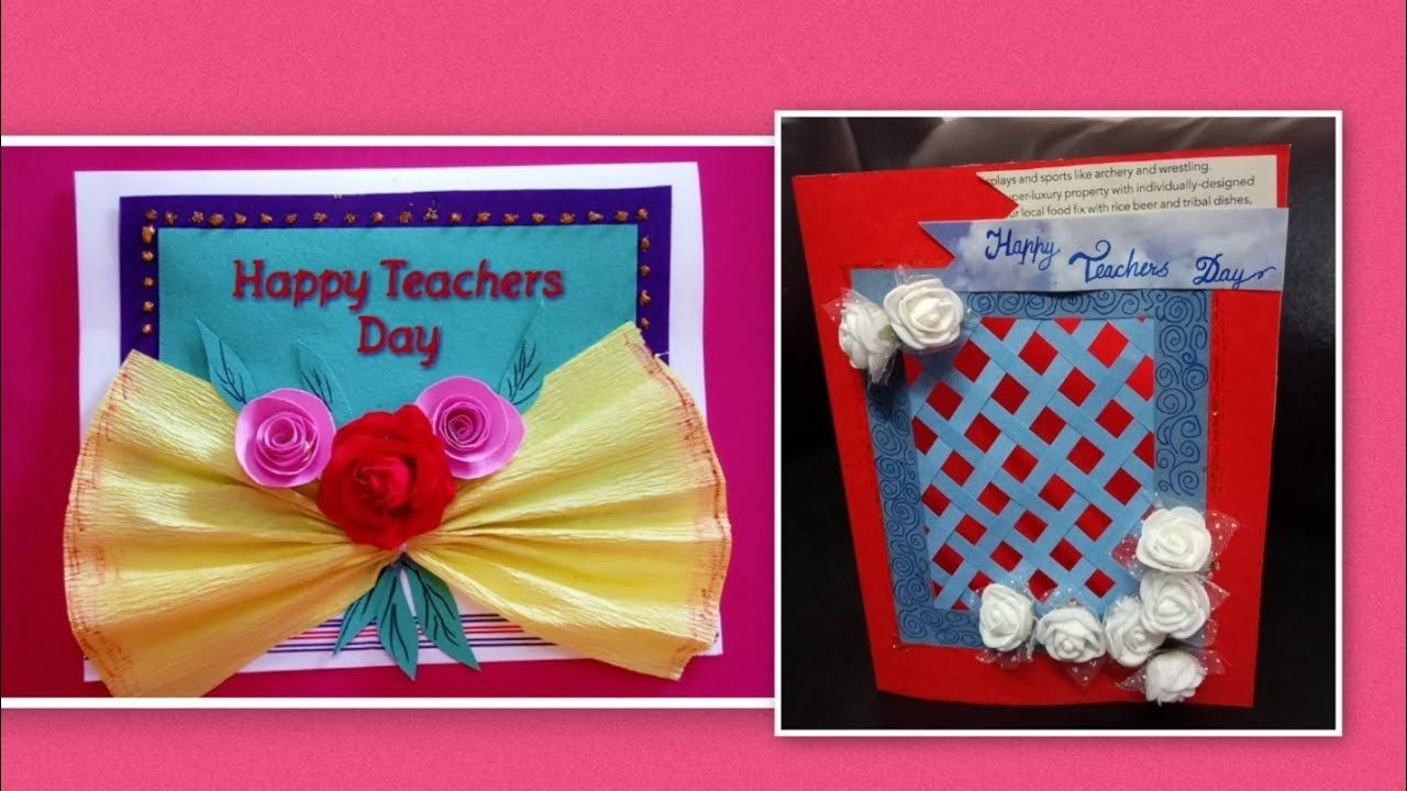 2 Special Teacher S Day Card Paper Craft Youtube Teachers Day Card Paper Crafts Paper Crafts Cards