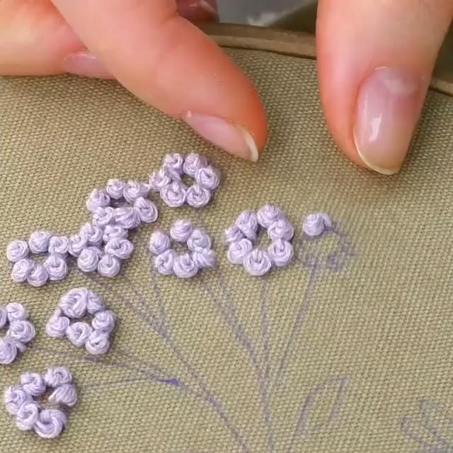 Photo of useful embroidery technique
