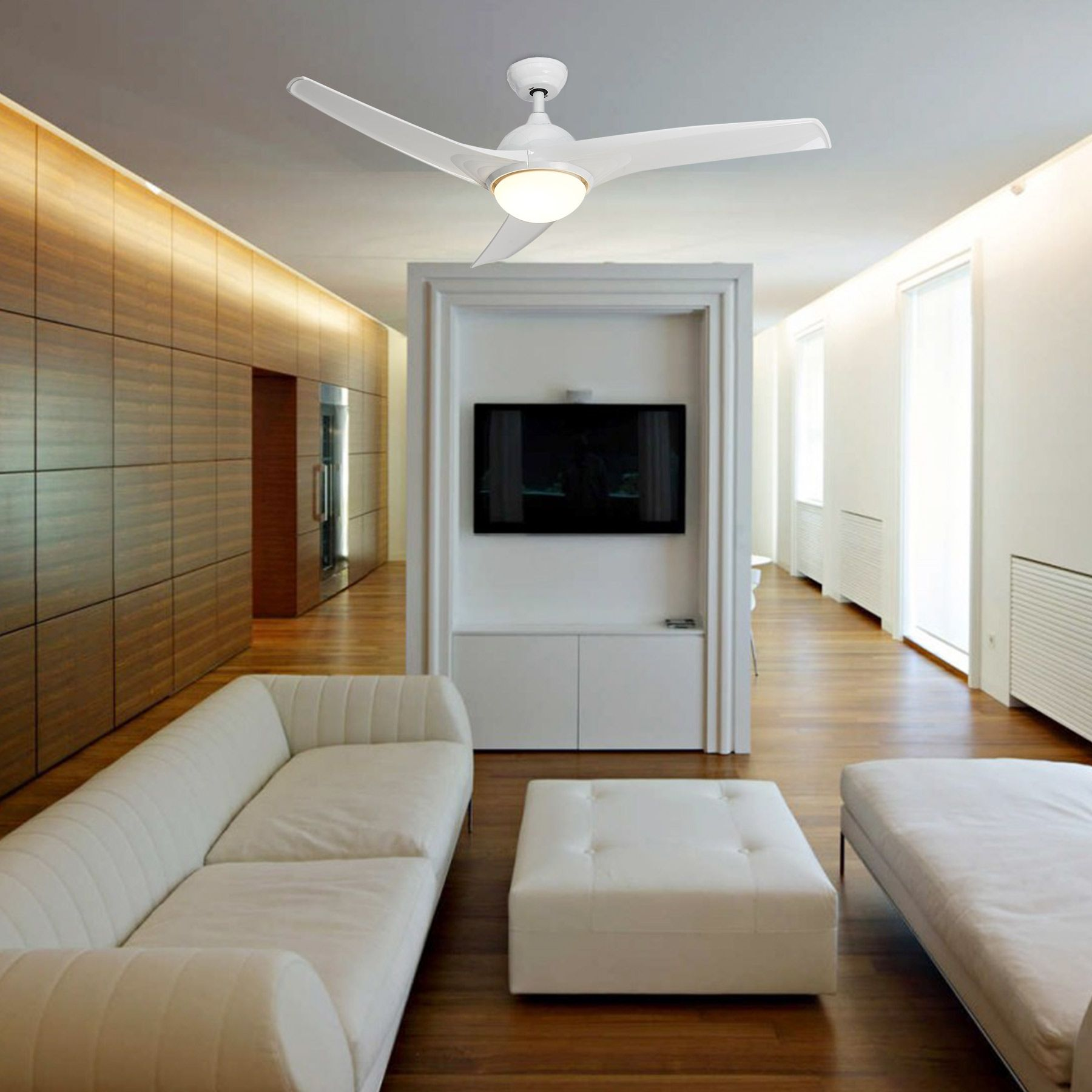 Home In 2020 Contemporary Ceiling Fans Led Panel Light Ceiling Fan