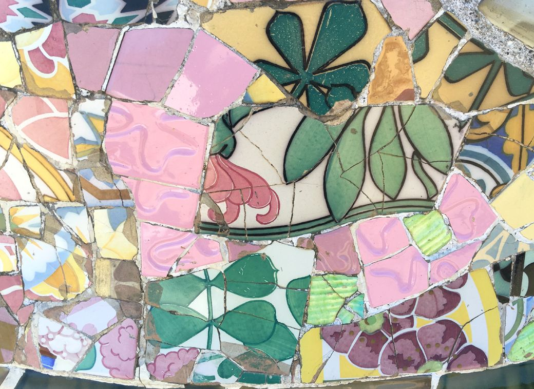 Park Guell, Barcelona, Spain, Gaudi mosaics with Seen by Solomon travel blog