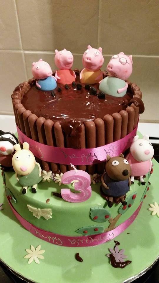 Peppa Pig In Mud Cake Rd Birthday Pinterest Mud Cake Cake - Owl percy pig birthday cake