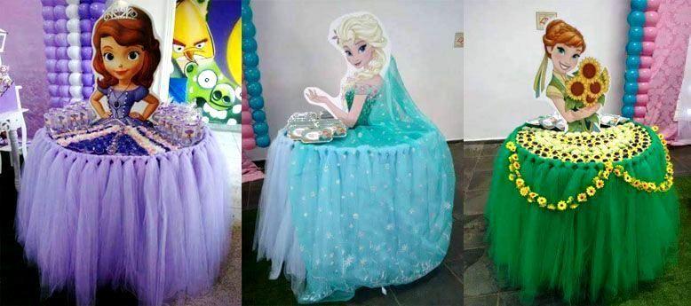 Como vestir y decorar una mesa de souvenirs con forma de - Decoracion de cumpleanos infantiles ...
