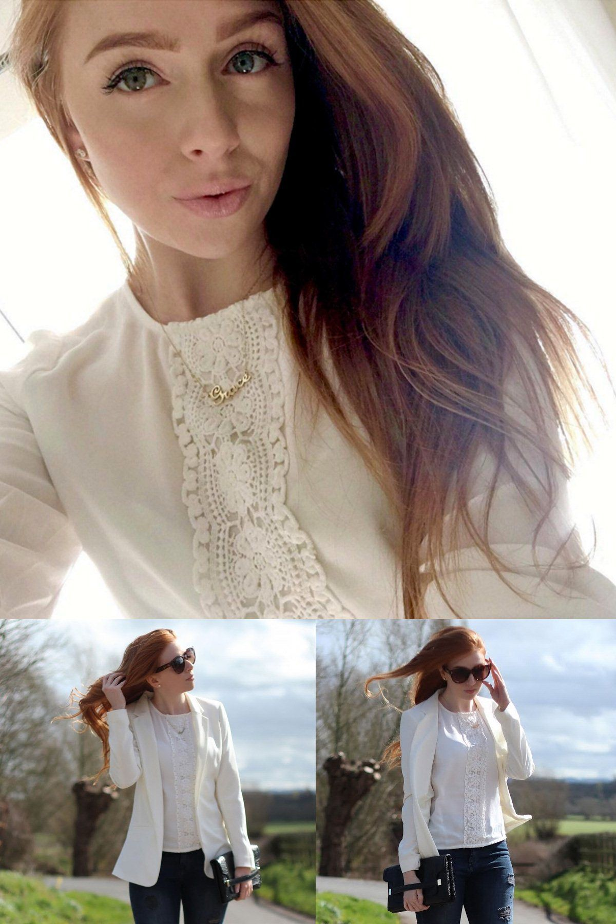 ELIZABETH CROCHET PANEL TOP As seen on // Grace Olivia of style blog Dorothy & Olive