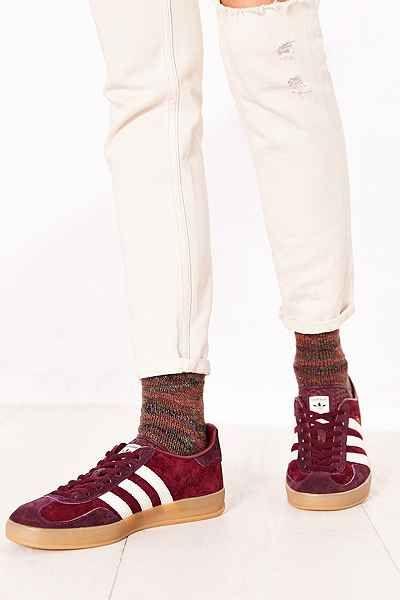 adidas originals leather gazelle unisex trainers with gum soles