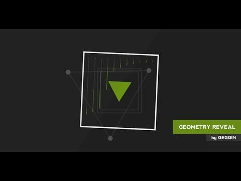 geometry shapes logo reveal intro after effects template project