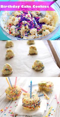 Birthday Cake Cookies...cute for my little girls school b-day parties:)