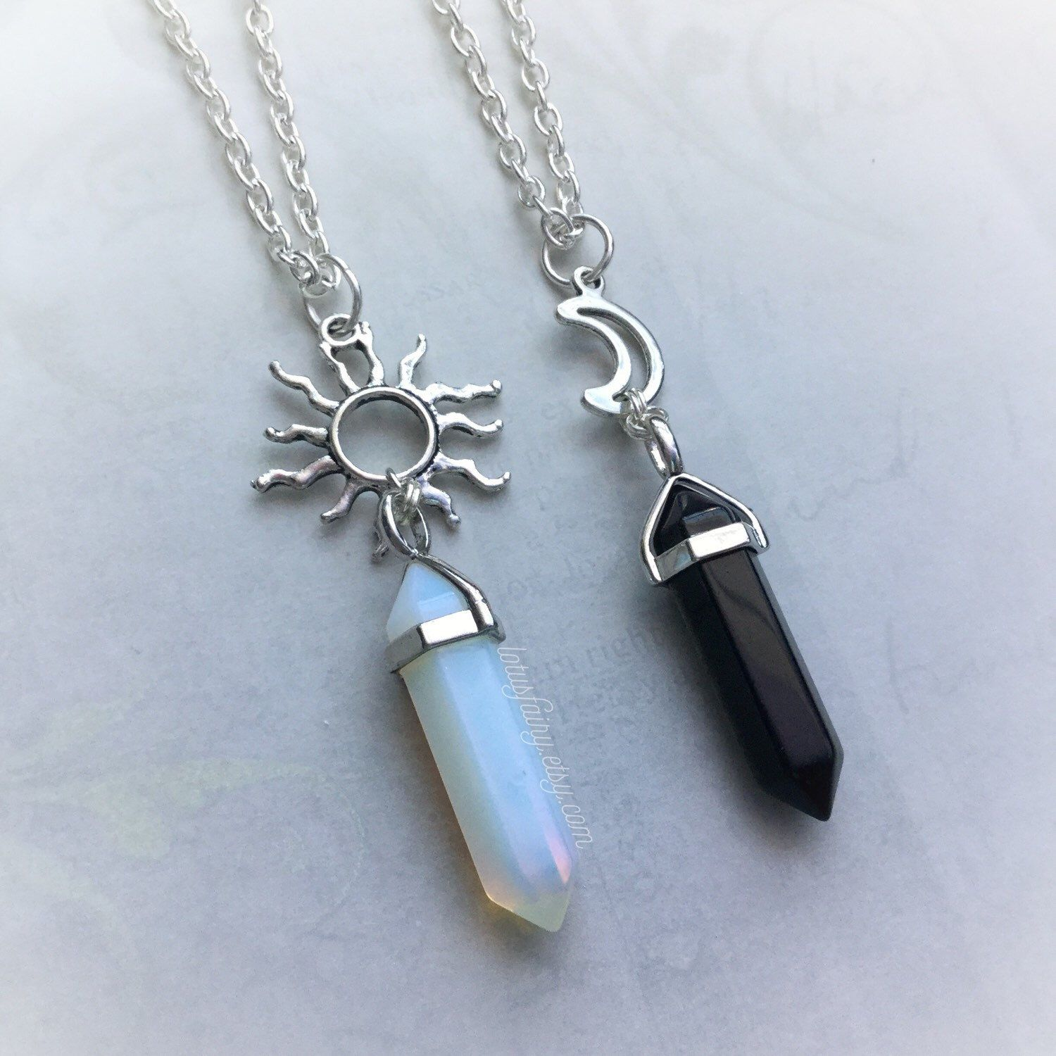 573186eef5 Best Friends Sun + Moon crystal necklaces | Fashion in 2019 | Friend ...