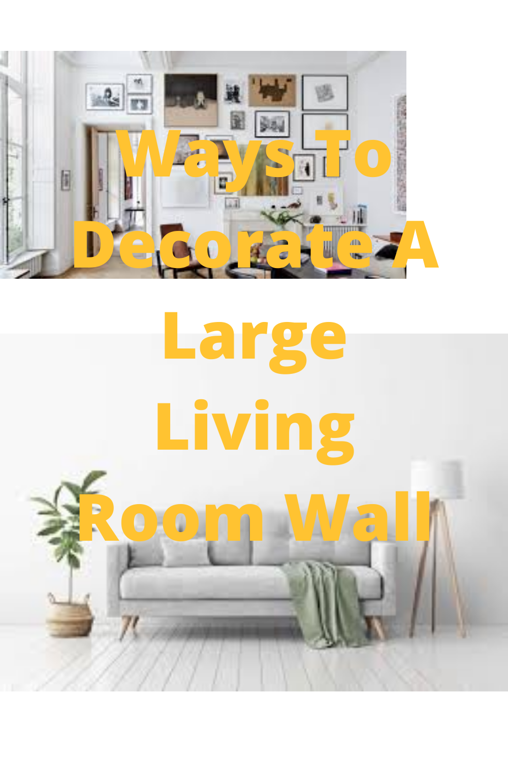 Ways To Decorate A Large Living Room Wall Large Living Room Large Living Room Decor Living Room Designs