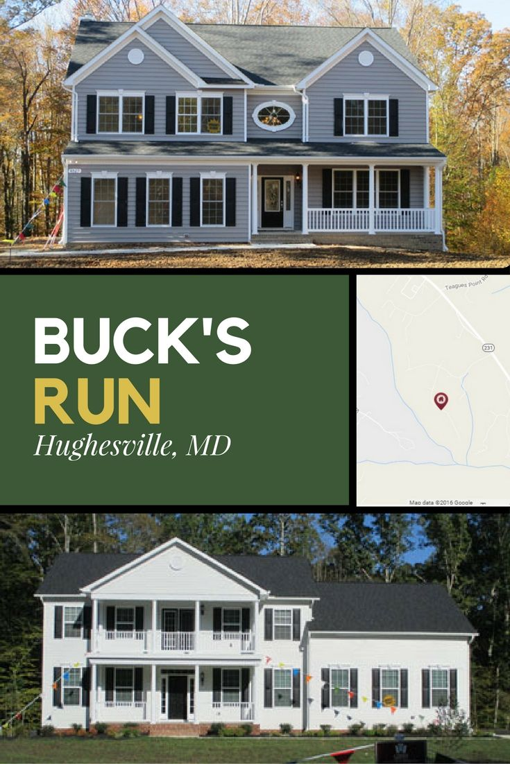 Buck's Run, Hughesville, MD. Country living on 1 to 3 acre
