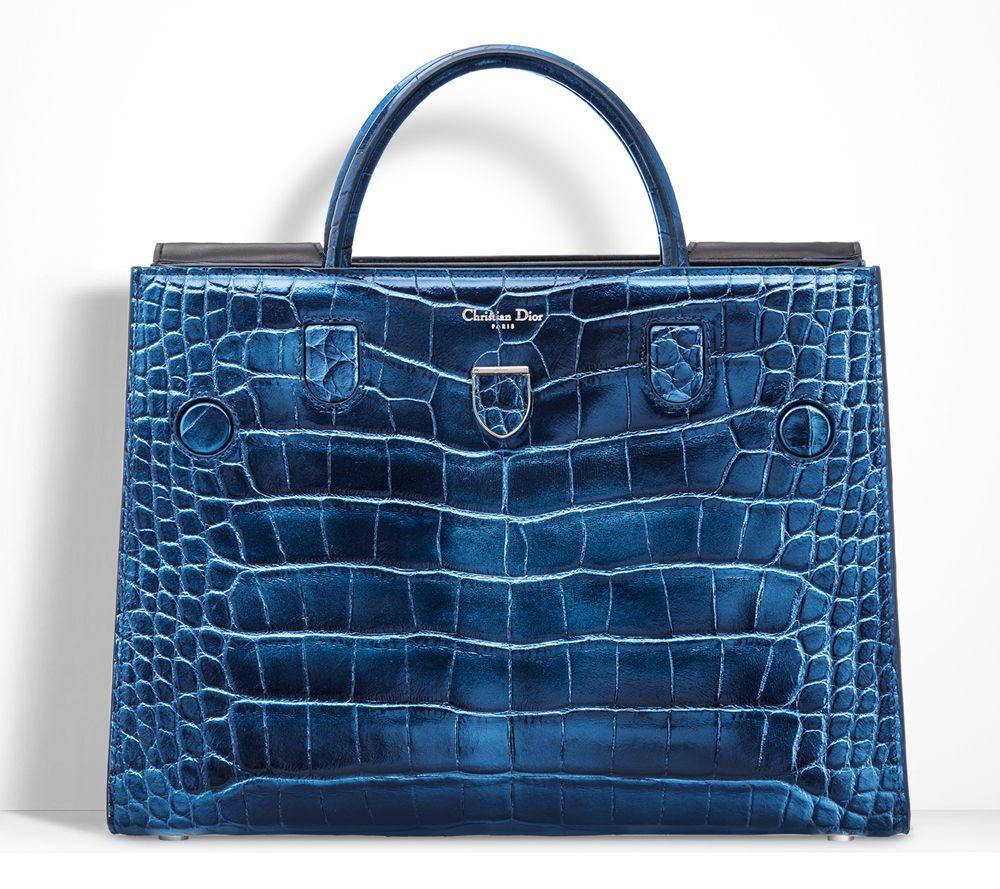 5746691342 Christian Dior Diorever Alligatore Tote Blue | Architect's Fashion ...