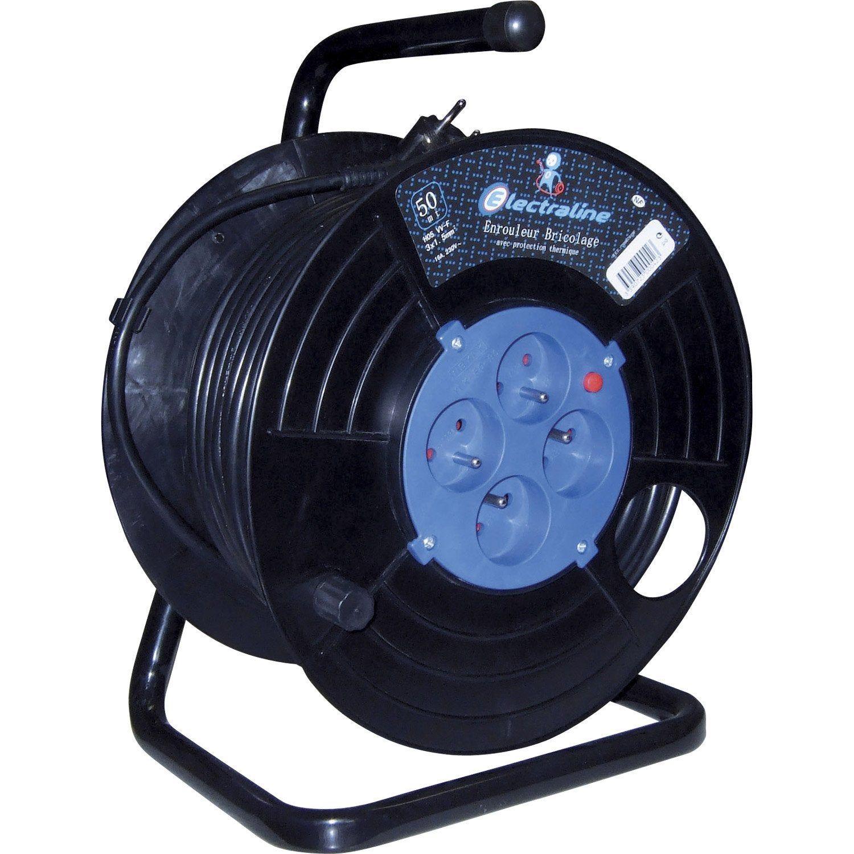 Enrouleur Electrique Bricolage Avec Terre L 30 M Ho5vvf 3g1 5 Electraline Enrouleur De Cable Cable Electrique Et Electrique