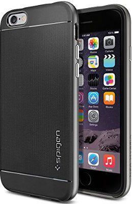 iPhone 6 Case, Spigen Neo Hybrid Case for iPhone 6 (4.7-Inch) - Retail Packaging - Gunmetal (SGP11031)
