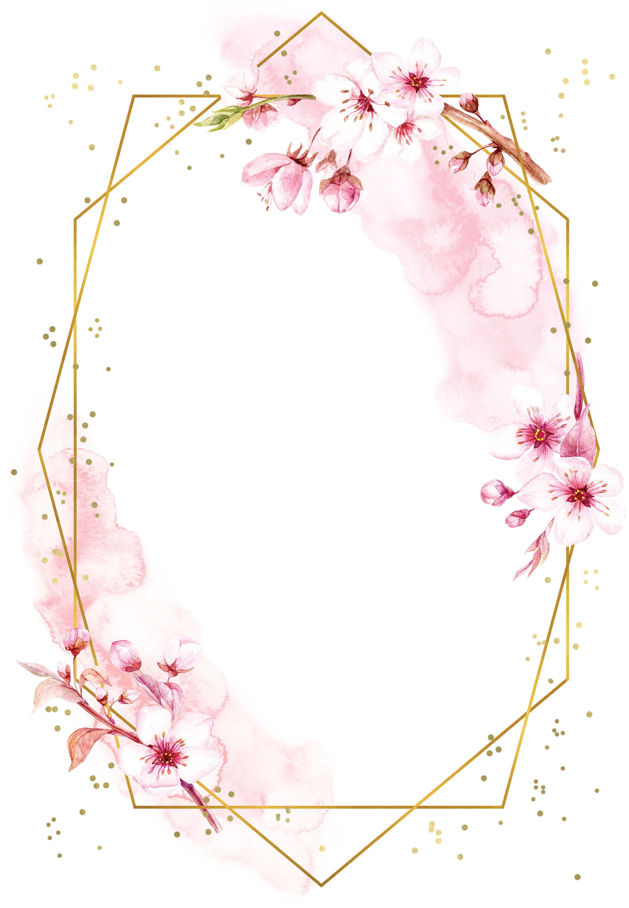 Floral Sakura - Wedding Invitation Template | Gree
