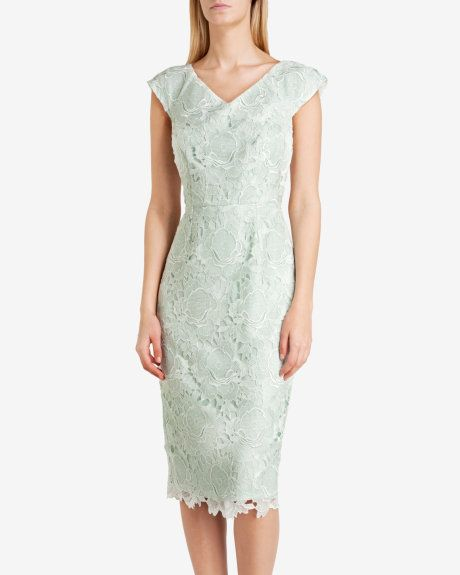 Fitted lace dress - Mint | Dresses | Ted Baker