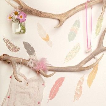 Floating Feathers Wall Decals at Lark