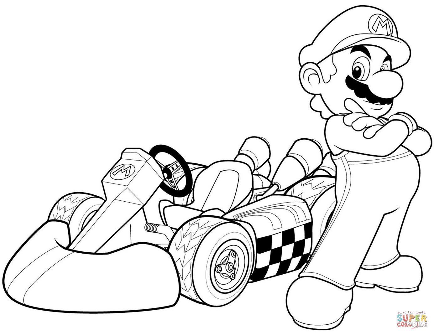 Mario In Mario Kart Wii Super Coloring Super Mario Coloring Pages Mario Coloring Pages Coloring Pages