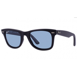 fb71033f18b Ray Ban Original Wayfarer Classic RB2140 sunglasses – Black Frame   Blue  Legend Lens